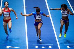 02-02-2018 GBR: World Indoor Championships Athletics day 2, Birmingham<br /> Yonli Wei CHN, Javanen Oliver USA, Bianca Williams GBR