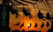 Howard County Fair - YoYo ride at dusk.