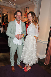ALICE TEMPERLEY and LARS VON BENNIGSEN at the Frocks and Rocks party hosted by Alice Temperley and Jade Jagger at Temperley, Bruton Street, London on 25th April 2013.