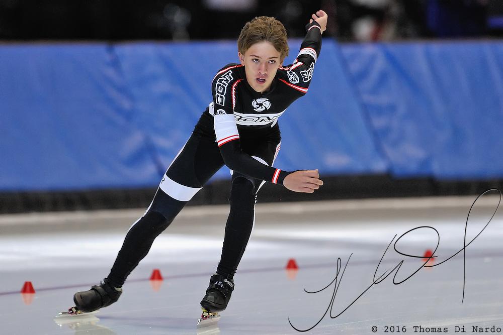 September 18, 2010 - Kearns, Utah - Chris Anderson races in long track speedskating time-trials held at the Utah Olympic Oval.