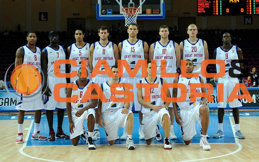 DESCRIZIONE : Warsaw Poland Polonia Eurobasket Men 2009 Preliminary Round Inghilterra Slovenia Great Britain Slovenia<br /> GIOCATORE : Team Inghilterra Great Britain<br /> SQUADRA : Inghilterra Great Britain<br /> EVENTO : Eurobasket Men 2009<br /> GARA : Inghilterra Slovenia Great Britain Slovenia<br /> DATA : 07/09/2009 <br /> CATEGORIA :<br /> SPORT : Pallacanestro <br /> AUTORE : Agenzia Ciamillo-Castoria/N.Parausic<br /> Galleria : Eurobasket Men 2009 <br /> Fotonotizia : Warsaw Poland Polonia Eurobasket Men 2009 Preliminary Round Inghilterra Slovenia Great Britain Slovenia<br /> Predefinita :