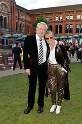 TWIGGY and her husband LEIGH LAWSON  at the V&A Summer Party in association with Harrod's held at The V&A Museum, London on 22nd June 2016.
