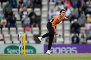 Fi Morris of Southern Vipers bowling during the Women's Cricket Super League match between Southern Vipers and Loughborough Lightning at the Ageas Bowl, Southampton, United Kingdom on 28 August 2019.