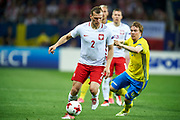 Lublin, Poland - 2017 June 19: (L) Pawel Jaroszynski from Poland U21 fights for the ball with Simon Tibbling from Sweden U21 while Poland v Sweden match during 2017 UEFA European Under-21 Championship at Lublin Arena on June 19, 2017 in Lublin, Poland.<br /> <br /> Mandatory credit:<br /> Photo by &copy; Adam Nurkiewicz / Mediasport<br /> <br /> Adam Nurkiewicz declares that he has no rights to the image of people at the photographs of his authorship.<br /> <br /> Picture also available in RAW (NEF) or TIFF format on special request.<br /> <br /> Any editorial, commercial or promotional use requires written permission from the author of image.