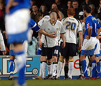 Photo: Ashley Pickering.<br />Ipswich Town v Leeds United. Coca Cola Championship. 16/12/2006.<br />Leeds captain Kevin Nicholls (no. 18) leaves the pitch after being sent off