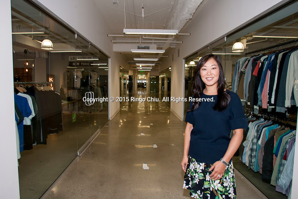 Jaime Lee, the chief executive of Jamison Services Inc. and creative office space in the building at California Market Center.(Photo by Ringo Chiu/PHOTOFORMULA.com)
