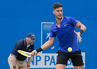 Tennis - 2017 Aegon Championships [Queen's Club Championship] - Day Four, Thursday <br /> <br /> Men's Singles: Round of 16 - Daniil MEDVEDEV (RUS) Vs Thanasi KOKKINAKIS (AUS)<br /> <br /> Thanasi Kokkinakis (AUS) prepares for a forehand drive at Queens Club<br /> <br /> COLORSPORT/DANIEL BEARHAM