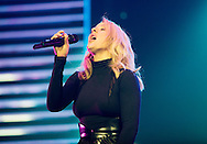 Ellie Goulding performs on stage at SEE Hydro in Glasgow on March 18, 2016
