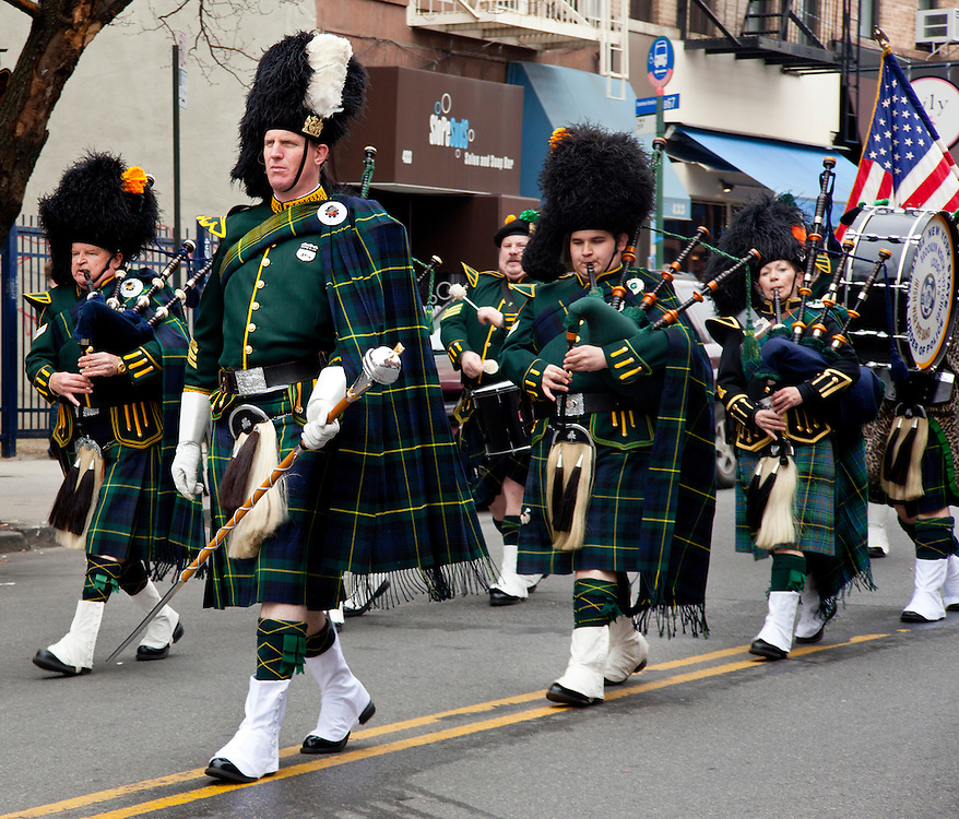 NYPD pipers.