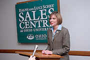 "Dawn Deeter..11/1/2006..Ralph and Luci Schey Sales Centre named at Ohio University.Center named for prominent Cleveland-area residents..ATHENS, Ohio (Nov. 1, 2006) -- Ohio University celebrated today the naming of the Ralph and Luci Schey Sales Centre in the College of Business. The Ohio University Board of Trustees passed a resolution that approved the official naming of the center during its recent meeting. Ralph and Luci Schey are residents of Gates Mills, Ohio...""The Ralph and Luci Schey Sales Centre is truly a unique program that continues to meet the needs of current and future Ohio University students,"" Ohio University President Roderick J. McDavis said. ""The skills that students develop at the center are useful in a variety of academic pursuits and careers. Statistics show that up to 65 percent of college graduates' first professional jobs are in sales-related roles.""..Ralph Schey was a guiding force behind the creation of the center in 1997. He challenged the university to get involved in sales education. ""It is particularly fitting that the center has now been named for those who first inspired us,"" said College of Business Associate Dean Dawn Deeter-Schmelz...Ralph and Luci Schey have supported their vision with a $2.2 million commitment to support the sales center. The endowment they have funded supports scholarships, operating expenses, nationally known speakers, professional trainers, workshops and sales symposia that allow current students to interact with professionals in the field...Ralph Schey, now retired, was for two decades president and CEO of the $1 billion conglomerate Scott Fetzer Company, a Berkshire Hathaway holding. His wife, Luci Schey, has been a trustee for the Cleveland Orchestra, among other civic groups. The Scheys are emeriti trustees of The Ohio University Foundation Board. Ralph Schey earned his bachelor's of science in commerce from Ohio University in 1948 and received an honorary doctorate from the university in 1987...Larry Sc"