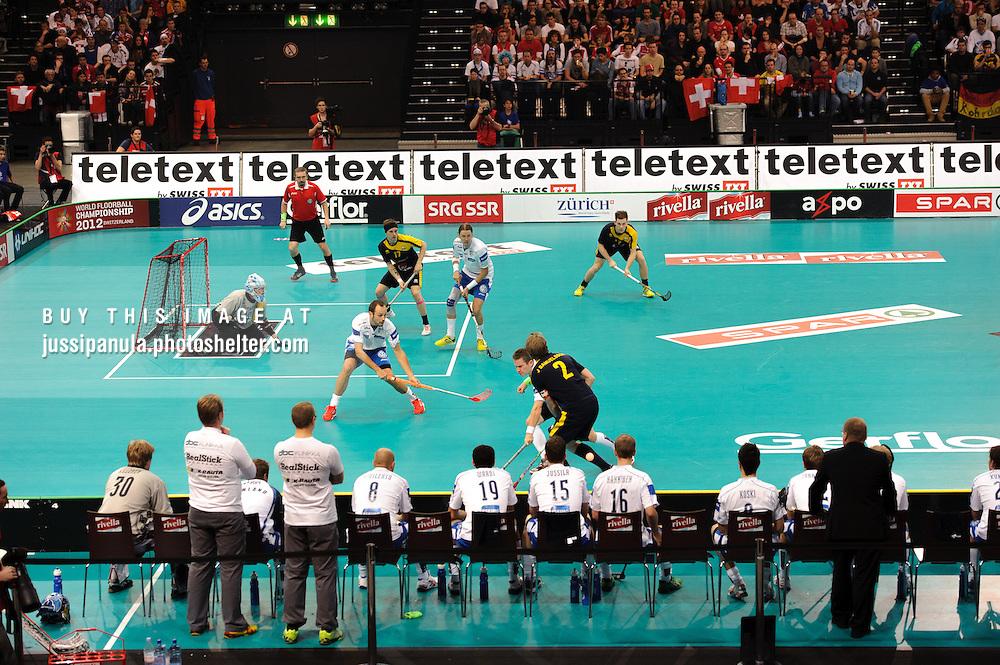 WFC World Floorball Championships 2012 FINAL: Finland vs. Sweden, 2012/12/9, Hallenstadion, Zürich, Switzerland