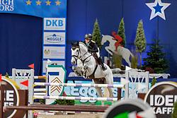BORMANN Finja (GER), Grey Chester<br /> München - Munich Indoors 2019<br /> Equiline Youngster Cup 2019<br /> Finale für 7jährige Nachwuchspferde, <br /> Zwei-Phasen Springprüfung, international<br /> Höhe: 1.40m<br /> 24. November 2019<br /> © www.sportfotos-lafrentz.de/Stefan Lafrentz