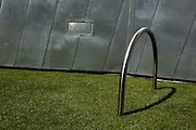 Bicycle stand on fake grass, Federation Square, Melbourne