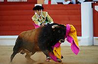 12 August 2011, Gijon, Spain --- Matador Jose Tomas performs during a bullfight in Gijon, northern Spain. Photo by Juan Manuel Serrano Arce