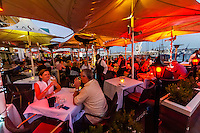 Outdoor dining, Victoria & Alfred Waterfront, Cape Town, South Africa.