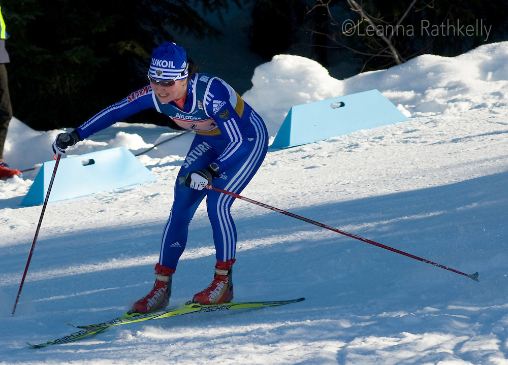 Marianna Longa (ITA) competes in the Viessman World Cup Cross Country Sunday Feb 18, 2009 at Whistler Olympic Park.