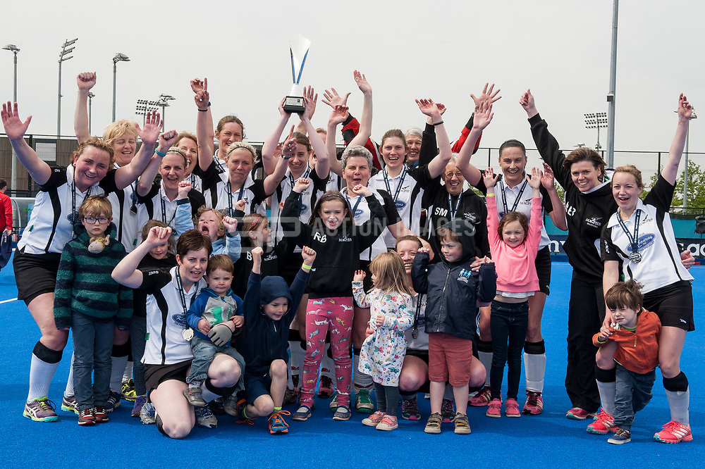 Harleston Magpies v Timperley - Investec Women's O35's Trophy Final, Lee Valley Hockey & Tennis Centre, London, UK on 30 April 2017. Photo: Simon Parker