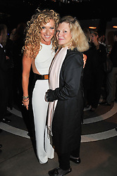 Left to right, KELLY HOPPEN and JO MILLER at a party to celebrate the Kelly Hoppen and Smallbone kitchen range held at The Collection, 264 Brompton Road, London on 24th September 2012.
