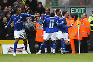 Picture by Paul Chesterton/Focus Images Ltd.  07904 640267.18/02/12.David Nugent of Leicester scores what turns out to be the winning goal and celebrates during the FA Cup Fifth Round match at Carrow Road stadium, Norwich.