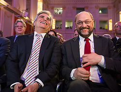 17.03.2014, Hofburg, Wien, AUT, SPOe, EU Wahlkampfauftakt der Wiener SPOe unter dem Motto Fuer ein soziales und demokratisches Europa. im Bild v.l.n.r. Bundeskanzler Werner Faymann (SPOe) und EU Parlamentspraesident Martin Schulz // f.l.t.r. Federal Chancellor of Austria Werner Faymann (SPOe) and European Parliament President Martin Schulz during SPOe election campaign opening for EU Election at Hofburg in Vienna, Austria on 2014/03/17. EXPA Pictures © 2014, PhotoCredit: EXPA/ Michael Gruber
