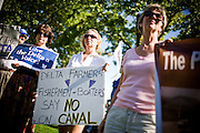 Delta locals protest the proposed peripheral canal plan in Stockton, Calif., September 22, 2009.