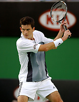 MELBOURNE, AUSTRALIA - JANUARY 19: Tim Henman of Great Britain in action against Jean-Rene Lisnard of France during day one of the Australian Open. 20/012004, in Melbourne, Australia. (Photo by Lars Mueller/Sportsbeat) *** Local Caption *** Tim Henman