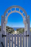 Gate to the beach, Provincetown, Cape Cod, Massachusetts, USA.