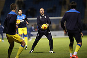 AFC Wimbledon assistant coach Neil Cox during the EFL Sky Bet League 1 match between Gillingham and AFC Wimbledon at the MEMS Priestfield Stadium, Gillingham, England on 21 February 2017.