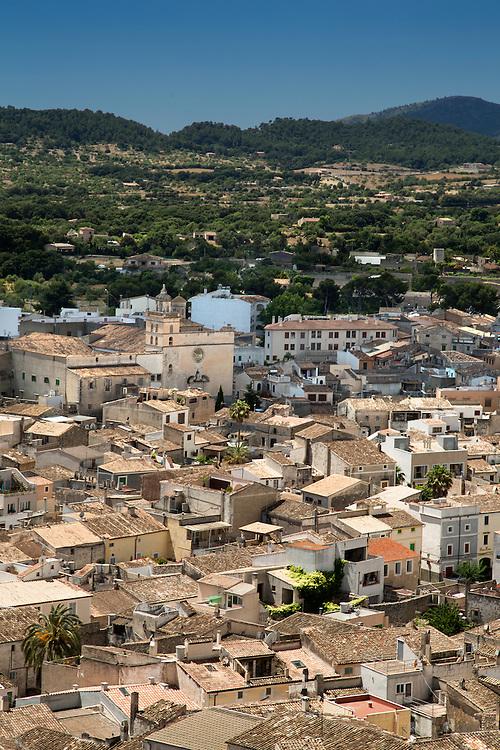 Ariel view of Arta in Mallorca Spain