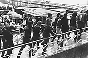 A group of Rock'n'roll fans on Brighton pier