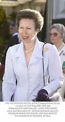 HRH THE PRINCESS ROYAL at the Chelsea Flower Show, London on 21st May 2001.	OOI 262