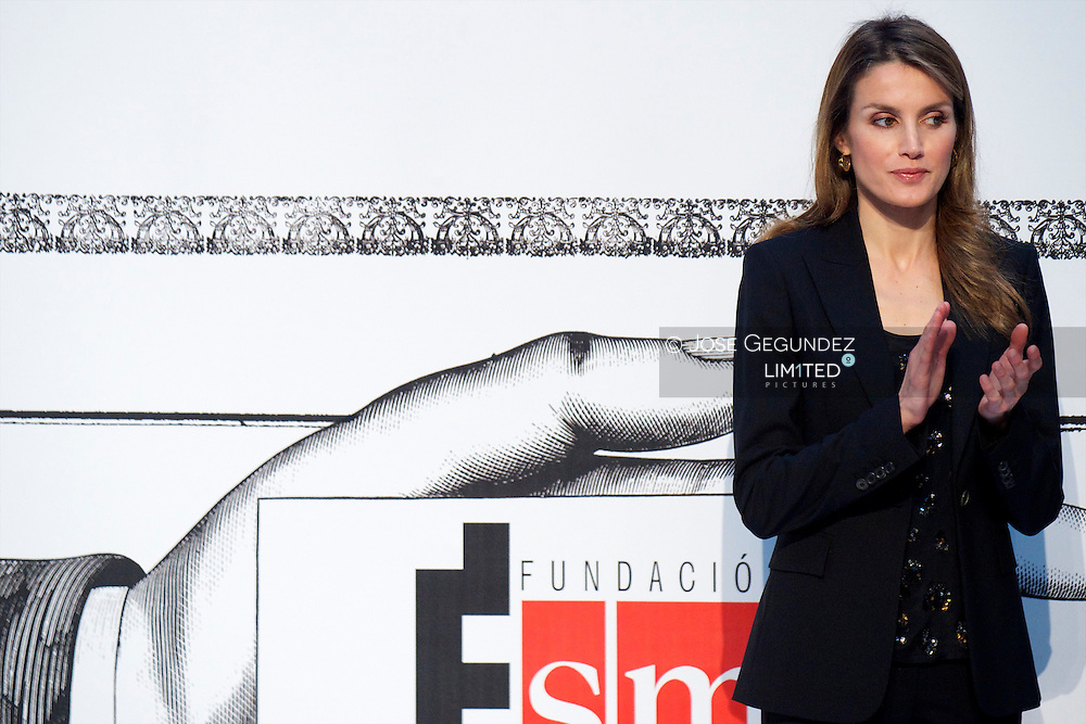 Princess Letizia of Spain attends 'El Barco de Vapor' literature awards at 'Casa de Correos' on April 9, 2013 in Madrid, Spain