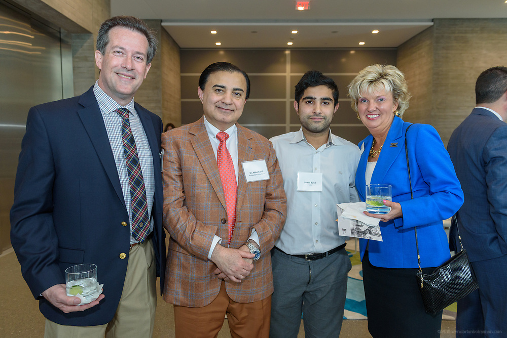 Mark Weaver, Dr. Abdul Buridi, Samad Buridi, Darla Townsend at the 10-year anniversary celebration of Republic Bank's Private Banking and Business Banking divisions Wednesday, May 17, 2017, at the Speed Art Museum in Louisville, Ky. (Photo by Brian Bohannon)