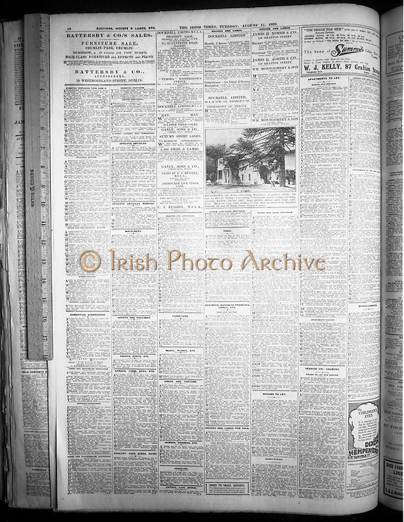 1/7/1964<br /> 7/1/1964<br /> 1 July 1964<br /> <br /> Copies of the Irish Times Newspaper from August 17th 1926, taken at the Pearse St. Library