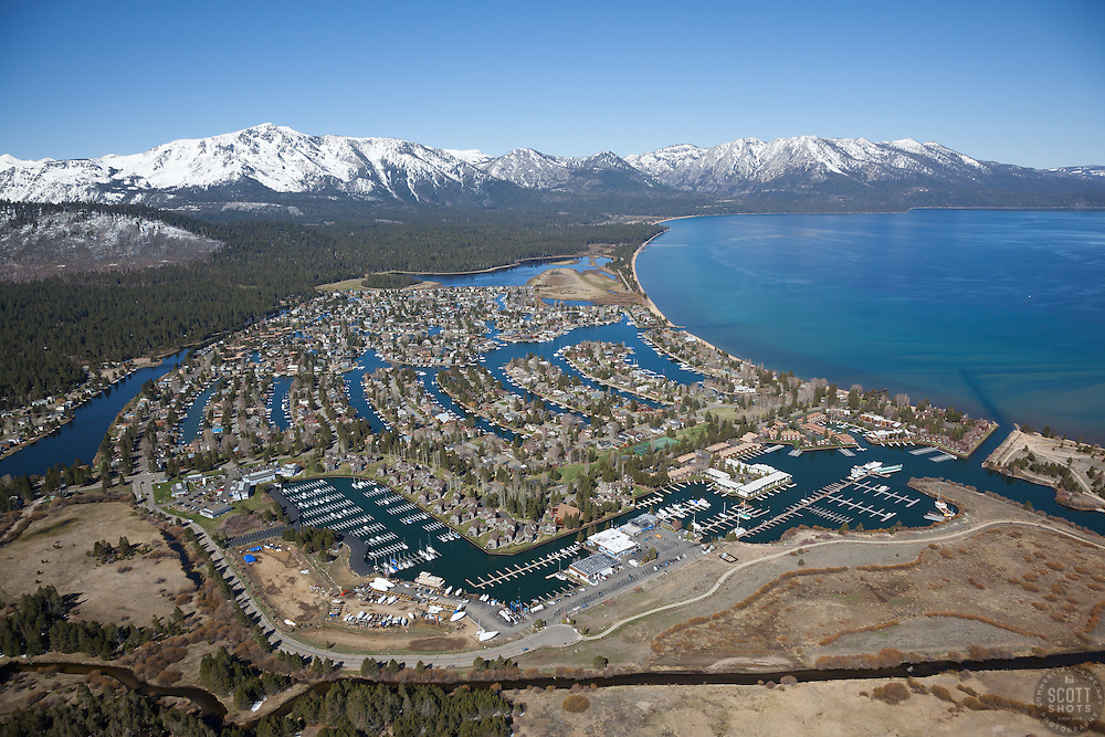 """Tahoe Keys Aerial"" - Aerial photograph of the Tahoe Keys, photographed from a helicopter with the door removed."