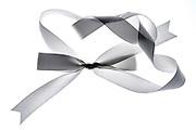 a white gift ribbon