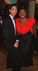 TV presenter FLOELLA BENJAMIN and her son ASTON TAYLOR, at a ball in London on 17th December 1997.MEG 47