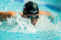 Michael Kristofer Zoldos  of Olimpija Ljubljana competes in 100m Butterfly during Slovenian Swimming National Championship 2014, on August 3, 2014 in Ravne na Koroskem, Slovenia. Photo by Vid Ponikvar / Sportida.com