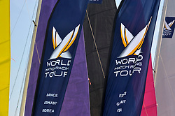 Colourful sails provide the perfect backdrop to Match Race France. Photo:Chris Davies/WMRT.
