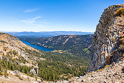 """Independence Lake, CA 5"" - Photograph of Independence Lake, taken from above the lake."
