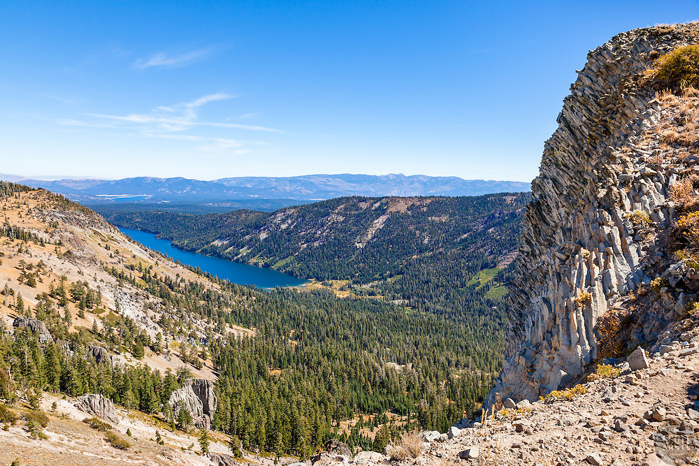 """""""Independence Lake, CA 5"""" - Photograph of Independence Lake, taken from above the lake."""