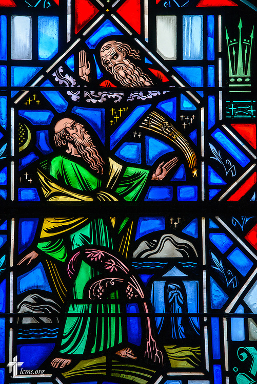 Stained glass at Luther Memorial Chapel depicts the Old Testament in Genesis 15 on Friday, Jan. 29, 2016, in Shorewood, Wis. LCMS Communications/Erik M. Lunsford