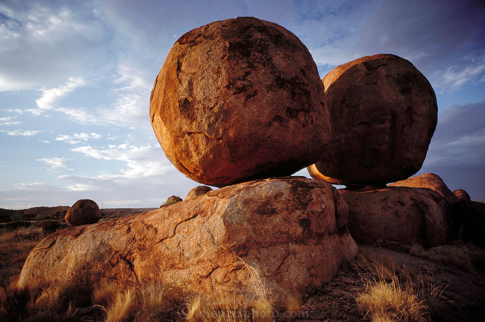 Devil's Marbles rock formation. Northern Territory, Australia.  Shot during the Pentax Solar Car Race. Australia landscapes.
