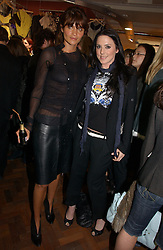 Left to right, model HELENA CHRISTENSEN and Singer MEL C formerly of the Spicegirls at a party to celebrate the opening of the new fashion store Jezebell at 59 Blandford Street, London W1 on 20th April 2006.<br /><br />NON EXCLUSIVE - WORLD RIGHTS