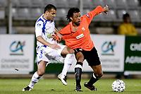 Fotball<br /> Frankrike<br /> Foto: DPPI/Digitalsport<br /> NORWAY ONLY<br /> <br /> FOOTBALL - FRENCH CHAMPIONSHIP 2007/2008 - L1 - AJ AUXERRE v RC LENS - 08/03/2008 - LOIC REMY (LENS) / JEAN SEBASTIEN JAURES (AUX)