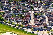 Nederland, Provincie, Plaats, 13-05-2019;<br /> Gelderland, West-Betuwe, 13-05-2019; Zaltbommel, gelegen aan rivier de Waal. Overzicht van de vestingstad met St. Maartenskerk.<br /> Zaltbommel, situated on the river Waal. Overview of the fortified city with St. Maartenskerk.<br /> <br /> luchtfoto (toeslag op standard tarieven);<br /> aerial photo (additional fee required);<br /> copyright foto/photo Siebe Swartee required);<br /> copyright foto/photo Siebe Swart