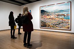 © Licensed to London News Pictures. 24/01/2018. London, UK. Photograph titled Salerno, 1990, by artist ANDREAS GURSKY is on display as part the first major UK retrospective of the German photographer. The showcase also marks the Haywood galleries 50th anniversary following its two year refurbishment. Photo credit: Ray Tang/LNP