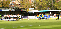 Shrewsbury town v Hereford,Fa cup first round.<br />11-11-2006.one minits silance before the game.