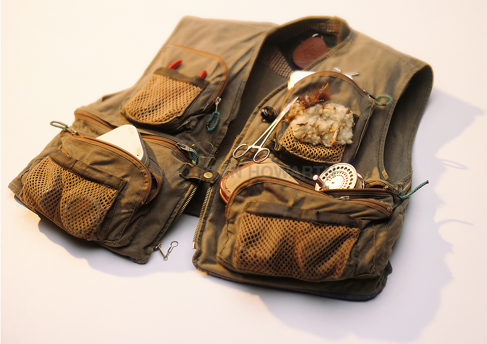 Fly fishing equipment vest