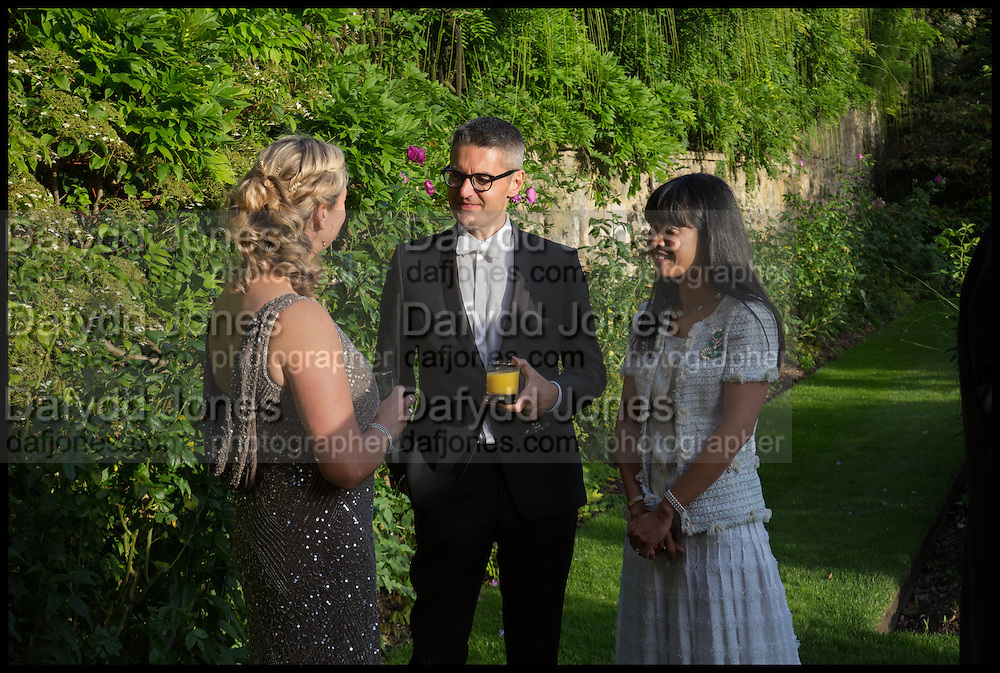 SALLY MANNERS; JAMES PALUMBO; PIM, The Tercentenary Ball, Worcester College. Oxford. 27 June 2014